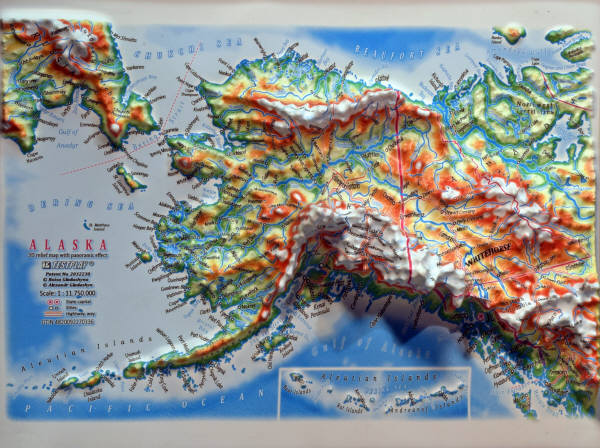 Alaska 3d Panoramic Map