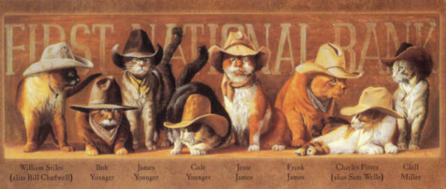 Cowboy Cats by Bryan Moon
