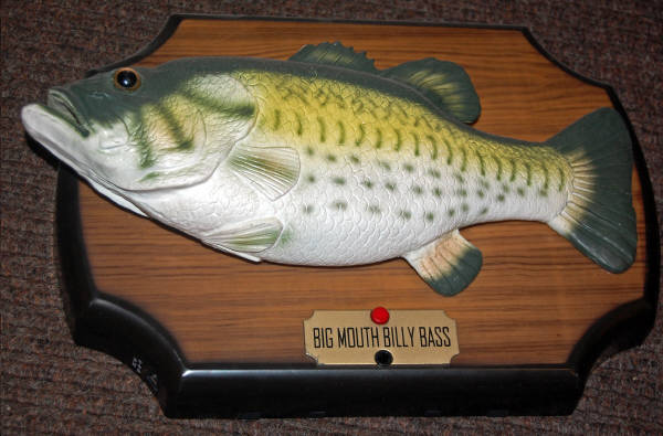 Big mouth billy bass the singing sensation fish 2000 for Big mouth billy bass singing fish