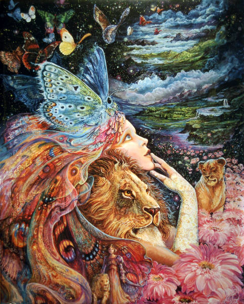 Heart and Soul. Artist Josephine Wall. Leanin' Tree Poster SKP30046.