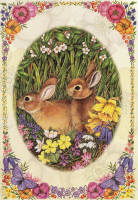 Leanin' Tree Easter Greeting Card EDT44071 Anne Mortimer, 1985