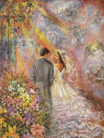 Leanin' Tree Wedding Greeting Card WDG27923 by Josephine Wall