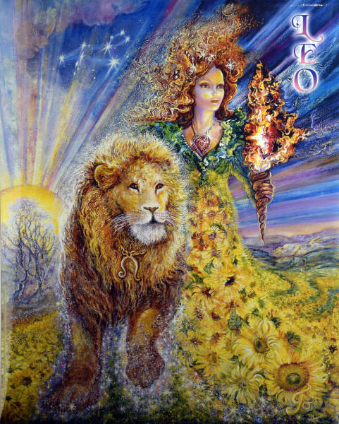 2000 GIFTS :: Leo Zodiac :: Leanin' Tree poster print by Josephine Wall