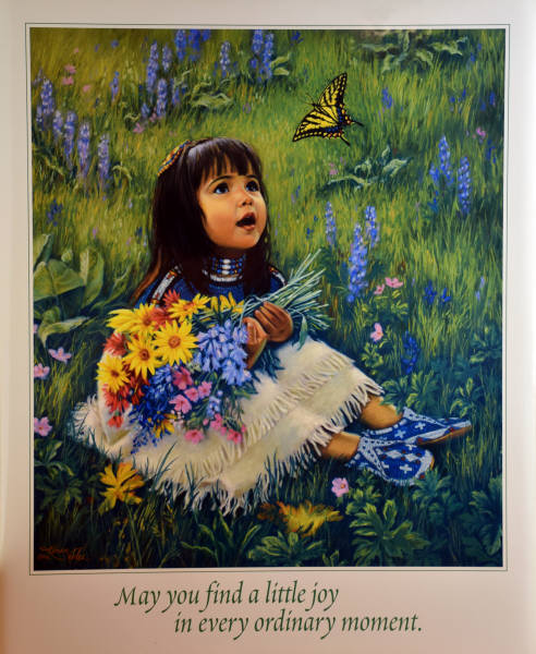 2000 GIFTS :: Little Butterfly :: Leanin' Tree poster print by Karen Noles.