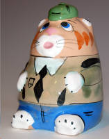 PIG BANK - CAT WITH GREEN HAT
