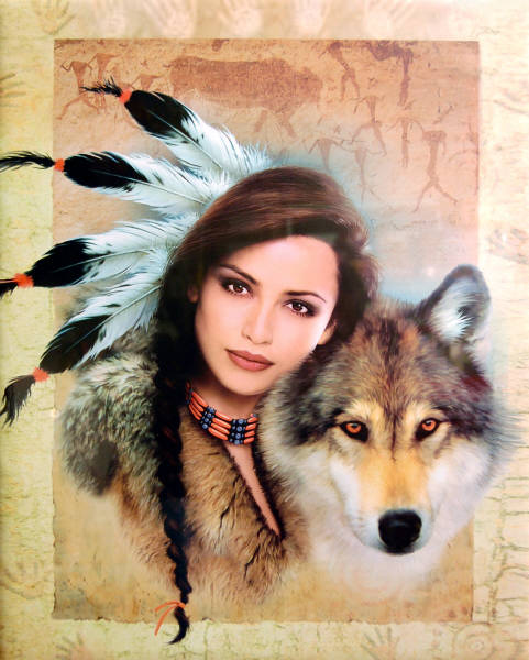 Leanin' Tree 16 x 20 Poster SKP30092 Spirit of the Wolf by Howard Robinson.