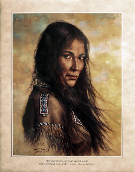 Leanin' Tree Poster INDIAN MAIDEN by Bill Hampton