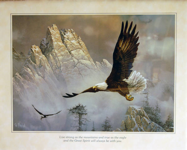 Leanin' Tree 16 x 20 Poster SKP779. Great Spirit - Bald Eagles by Ted Blaylock.
