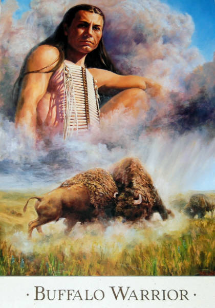Leanin' Tree 16 x 20 Poster Strength of the Buffalo. Art by Detha Watson.