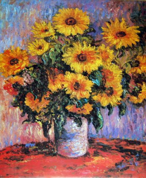 Sunflowers. Impact Images poster #20577. Art by Claude Monet.