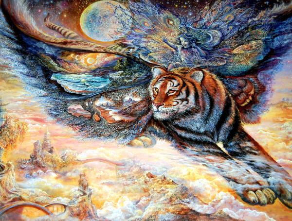 Tigermoth Leanin Tree Poster Skp30044 Art By Josephine