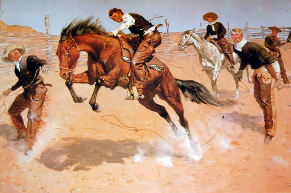 Turn Him Loose, Bill. Impact Images poster #6806. Art by Frederic Remington. Credit: Denver Public Library.