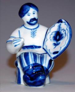Gzhel Porcelain Figurines (Russia)